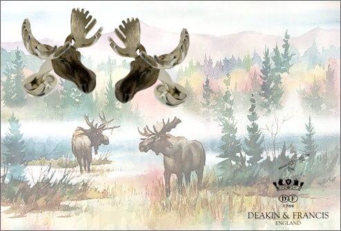 Bronze deer cufflinks
