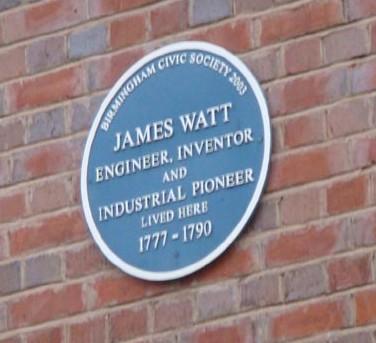 James Watt blue plaque 1777-1790