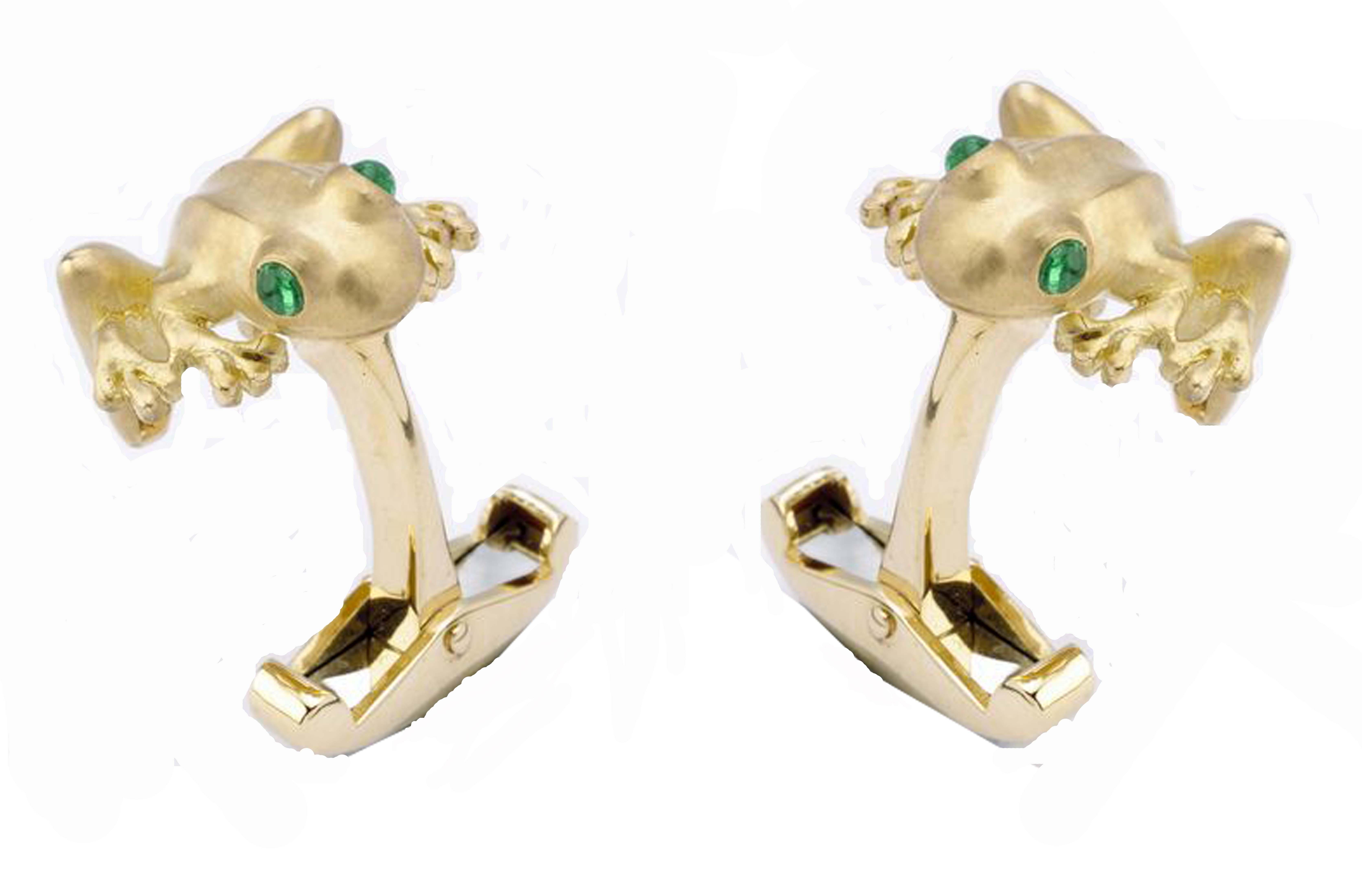 Gold Tree Frog Cufflinks