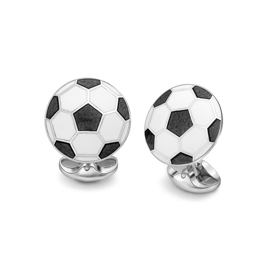 Black & White Football Cufflinks