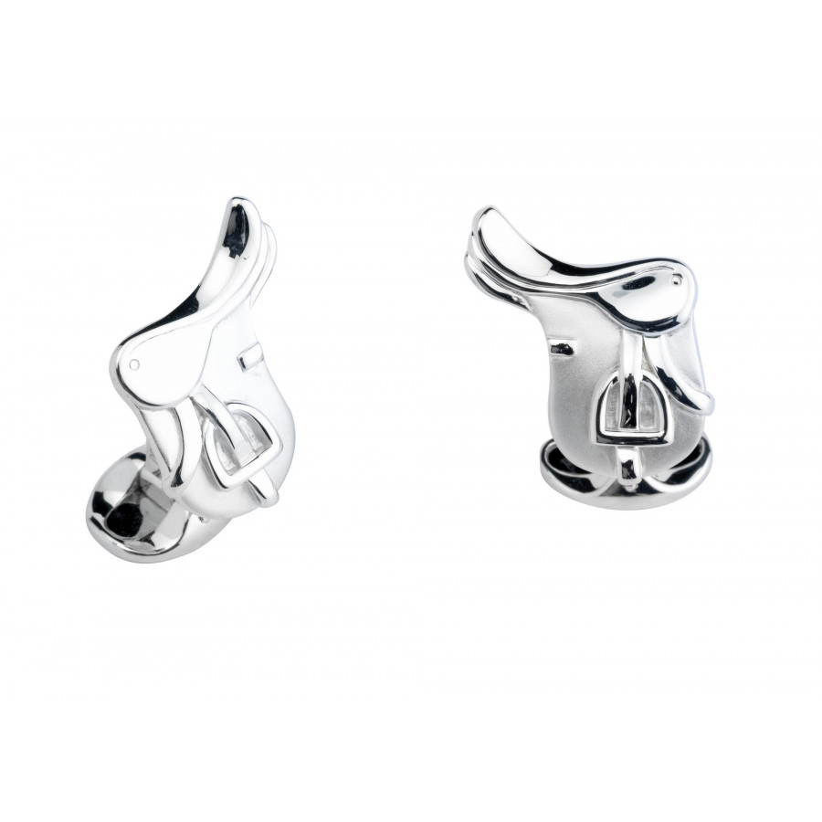 Sterling Silver Saddle Cufflinks