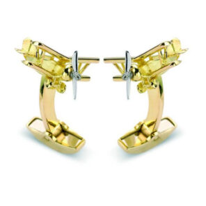 18ct Gold Biplane with Rotating Propeller Cufflinks