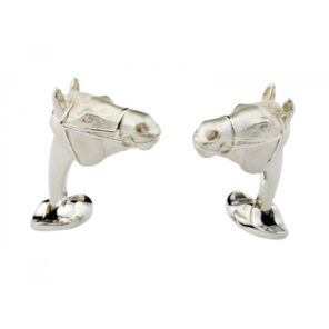 Sterling Silver Horse Head Cufflinks