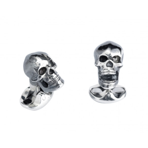 Sterling Silver Skull Cufflinks
