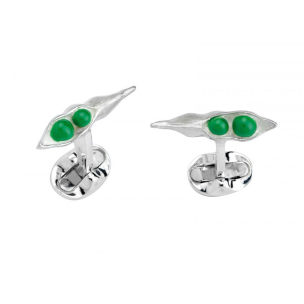 Sterling Silver Peas in a Pod Cufflinks