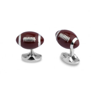 Sterling Silver American Football Cufflinks