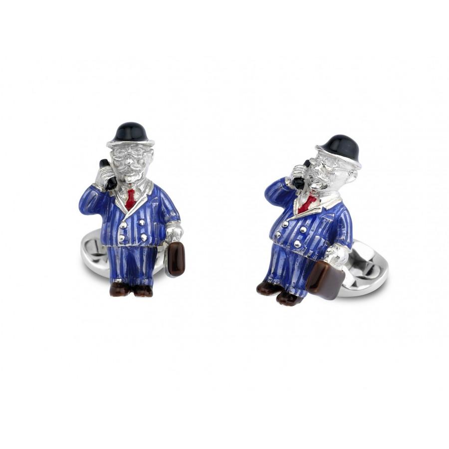 Sterling Silver Businessman Cufflinks