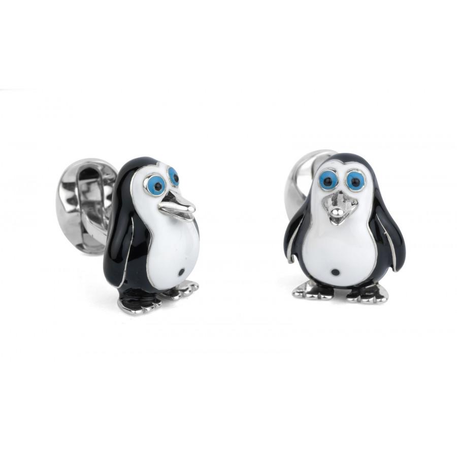 Sterling Silver Penguin Cufflinks