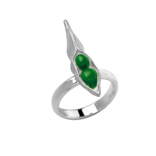 Sterling Silver Peapod Ring