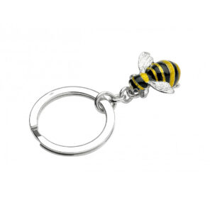 Sterling Silver Bumble Bee Keyring