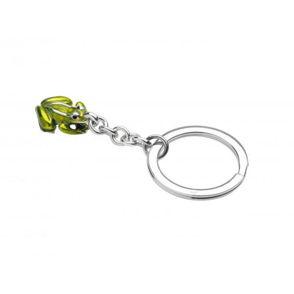 Sterling Silver Frog Keyring