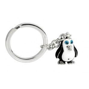 Sterling Silver Penguin Keyring