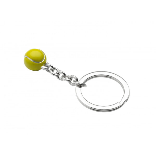 Sterling Silver Tennis Ball Keyring