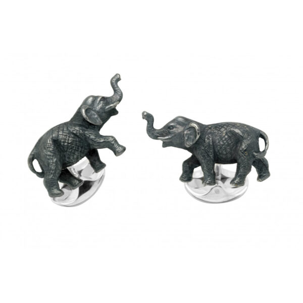 Sterling Silver Elephant Cufflinks
