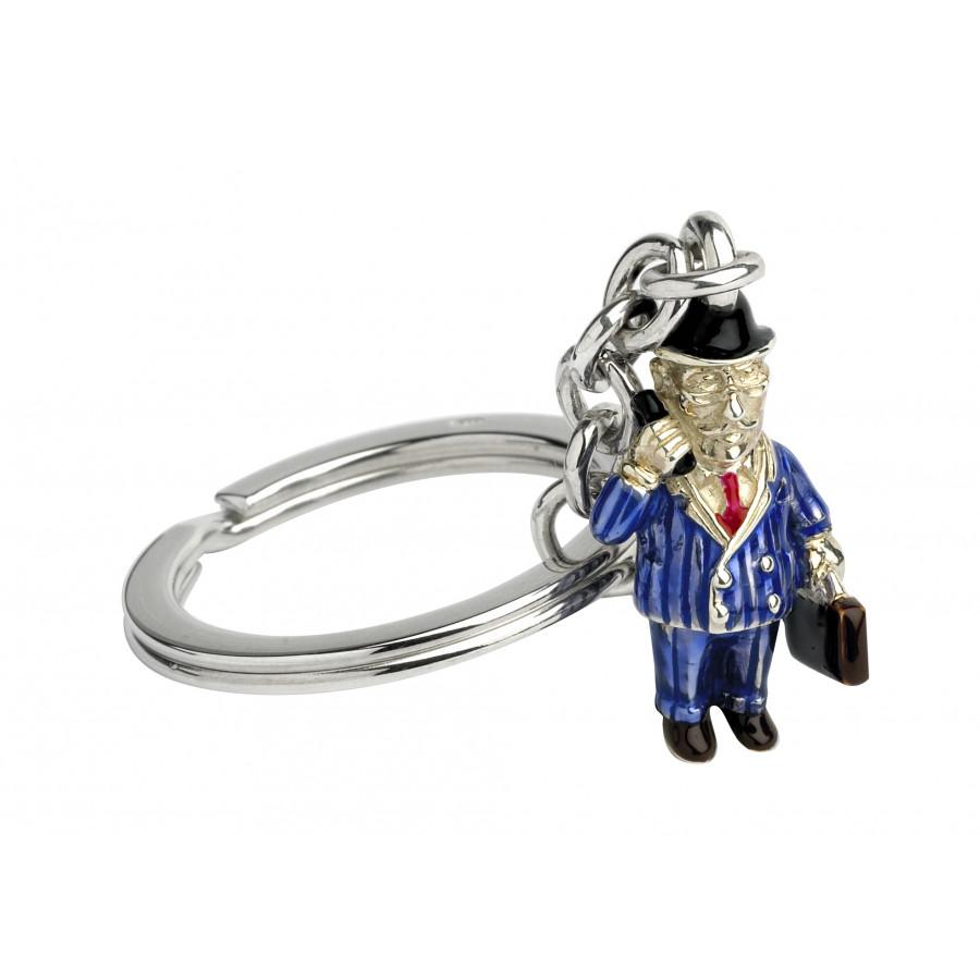 Sterling Silver Businessman Keyring