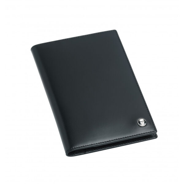 Leather Credit Card Wallet in Black