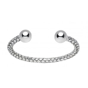 Sterling Silver Woven Effect Bangle