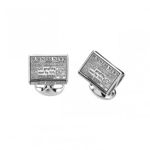 Sterling Silver Newspaper Cufflinks