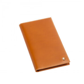 Leather Gents Chequebook Wallet in Tan