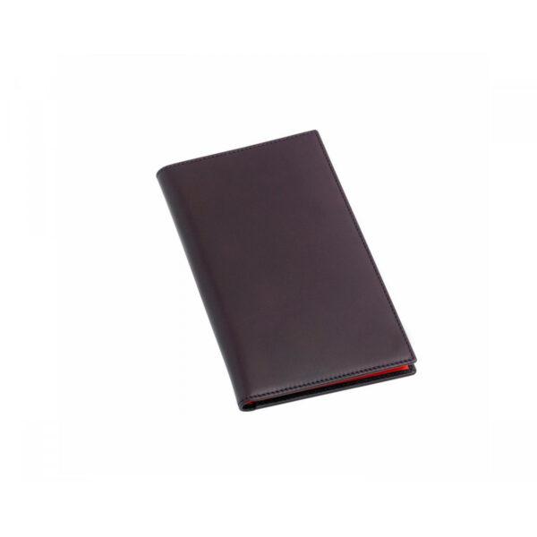 Leather Gents Chequebook Wallet in Burgundy