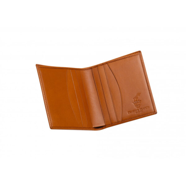 Leather Credit Card Wallet in Tan