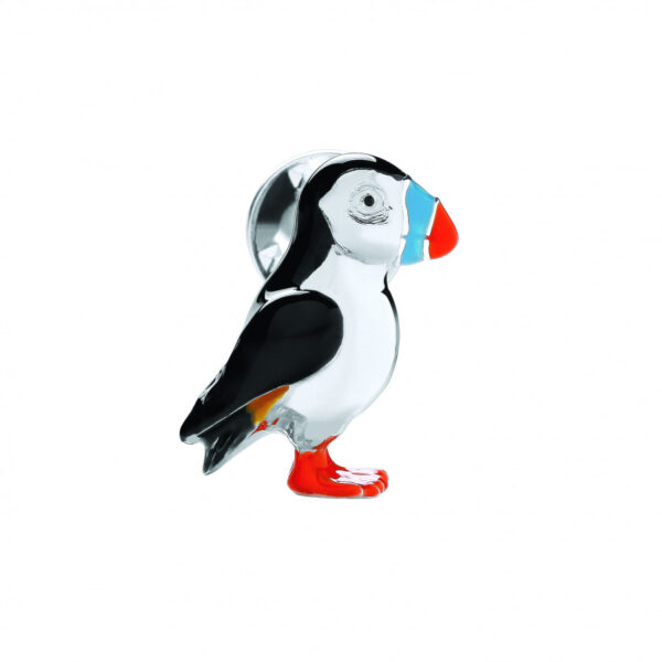 Sterling Silver Puffin Lapel Pin
