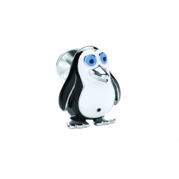 Sterling Silver Penguin Lapel Pin