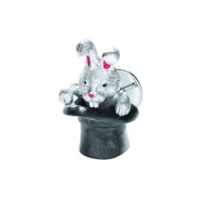 Sterling Silver Rabbit in Hat Lapel Pin