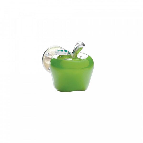 Sterling Silver Green Apple Lapel Pin