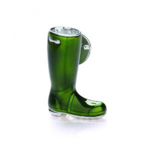 Green Wellington Boot Lapel Pin