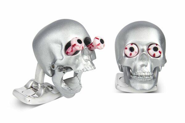 Eye Popping Skulls in Silver Satin Finish