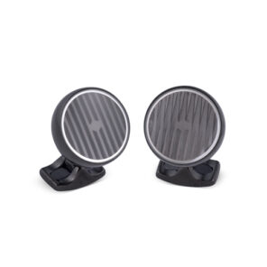 Freely Rotating Kinetic Cufflinks In Black