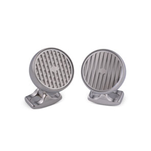 Freely Rotating Kinetic Cufflinks in Silver Finish