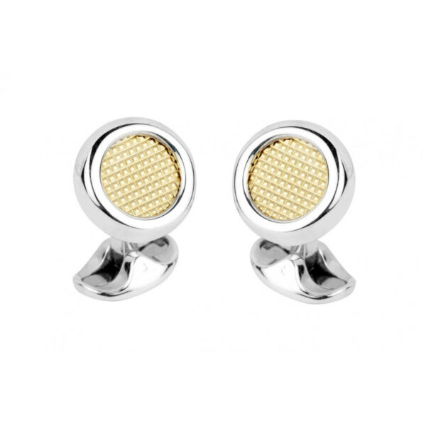 Sterling Silver Cufflinks with an 18ct Gold Inlay