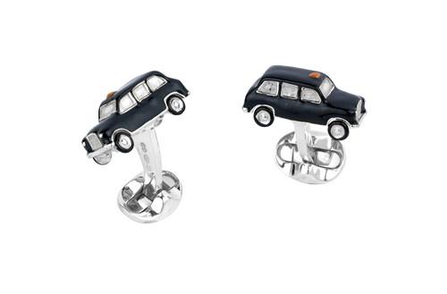 Sterling Silver Black Cab Cufflinks