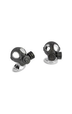 Sterling Silver Gas Mask Cufflinks