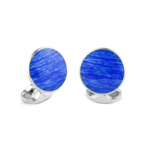 Sterling Silver Ocean Blue Cufflinks