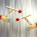 18ct Yellow Gold Cigar and Matchstick Cufflinks