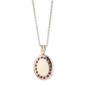 9ct Yellow Gold Ruby Set Locket