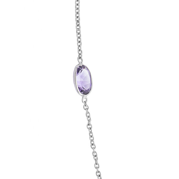 18ct White Gold Amethyst Necklace
