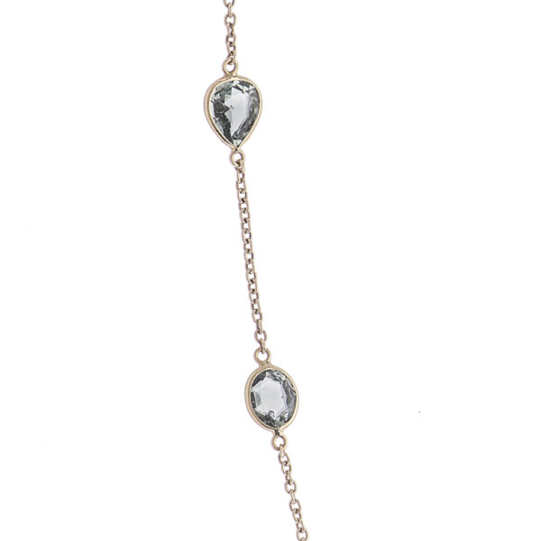 18ct Yellow Gold Fancy Colour And Fancy Shape Sapphire Spectacle Necklace