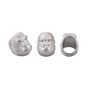 Sterling Silver Grumpy Gorilla Ring