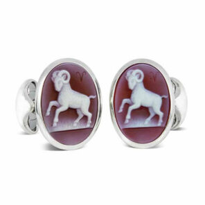 Sterling Silver Zodiac Cufflinks - Aries