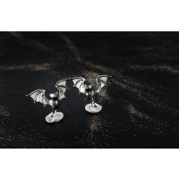 Sterling Silver 'Bold' Bat Cufflinks