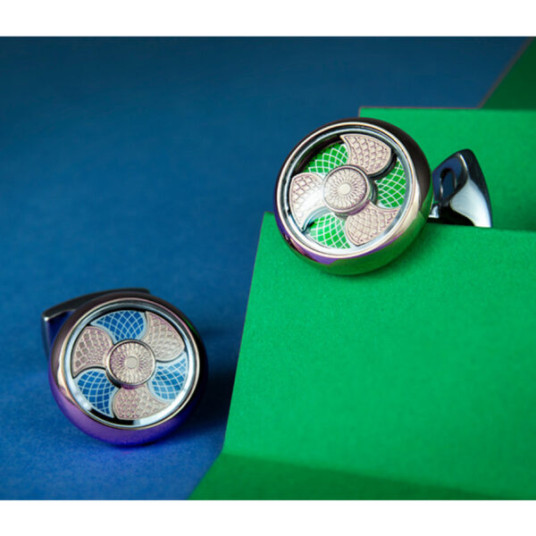 Blue and Green Colour Change Cufflinks
