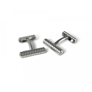 Knurl Cufflinks In Silver Finish
