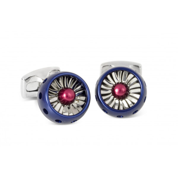 Jet Turbine Engine Cufflinks