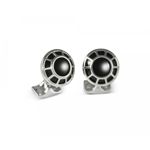 Porthole Cufflinks with Black Centre