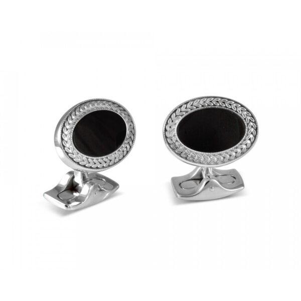 Oval Cufflinks with Onyx