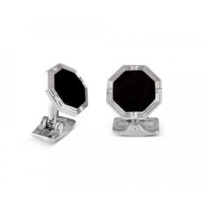 Octagonal Cufflinks With Onyx